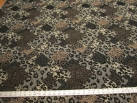 4 yards of animal spot chenille mix upholstery fabric