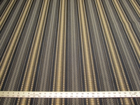 8 3/4 yards of navy stripe upholstery fabric