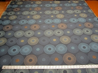 8 yards of geometric circle upholstery fabric