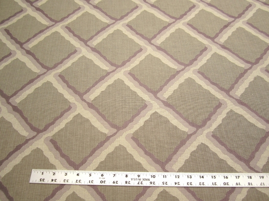 9 1/2 yards of lilac, taupe diamond upholstery and drapery fabric