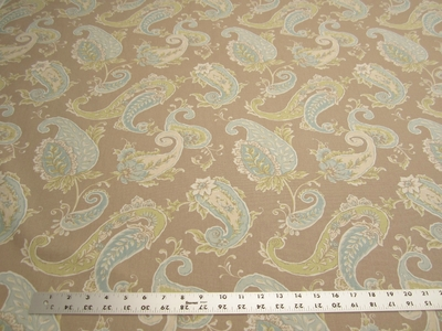9 1/4 yards of Beacon Hill paisley print drapery fabric