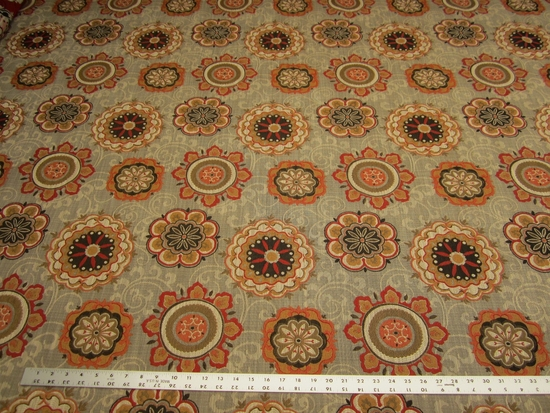 9 yard of Chanterelle medallion patterned tapestry upholstery fabric r2694
