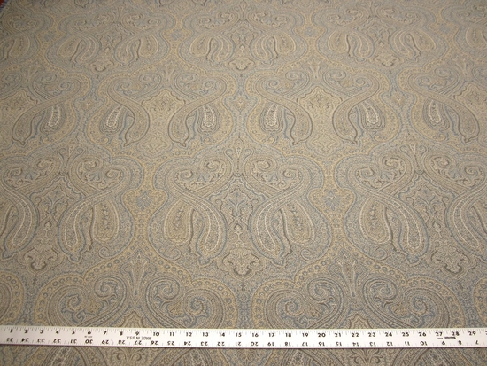 9 yards Marsyl blue paisley upholstery fabric