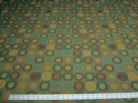 9 yards of geometric circles patterned upholstery fabric