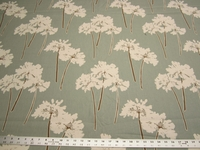 9 yards of Serenity Spa floral print cotton duck drapery fabric