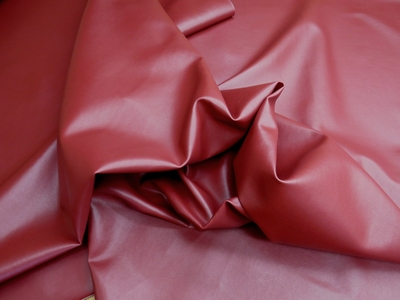Apache color merlot bonded leather upholstery fabric