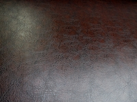 Chaps chestnut vinyl upholstery fabric per yard