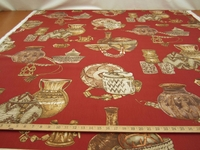 fc444, Nairobi vermillion pottery cotton print fabric