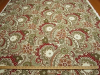 """fc544, Richloom home decor print fabric """"Cecina"""" color rouge"""