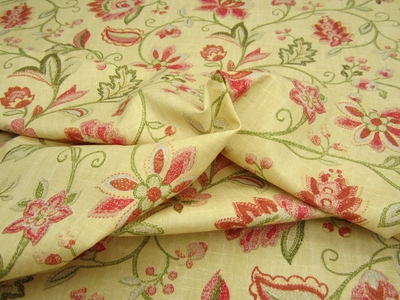 "fc546, Richloom home decor floral print fabric ""Illusions"" color tearose"