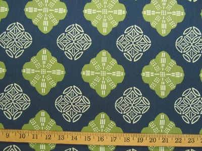 ft112, Shari Batik Medallion jacquard upholstery fabric color indigo