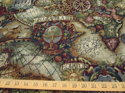 Magellan Old World Map tapestry jewel