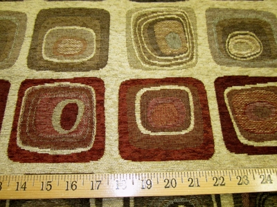 ft974, Corsair geometric chenille upholstery fabric