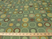 ft976, Geometric circles patterned upholstery fabric
