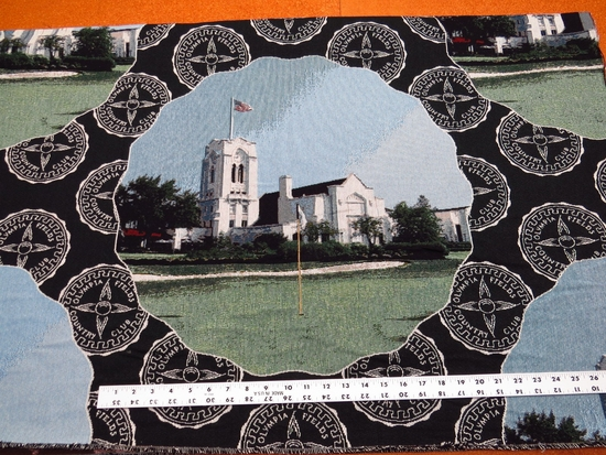 Olympia Fields Country Club golf tapestry panels