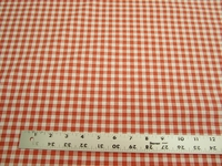 P. Kaufmann Highland Check color orange drapery or upholstery fabric per yard