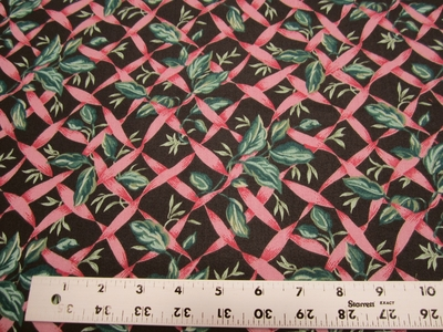 5 yards of trailing vine cotton print drapery fabric