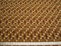3 3/8 yards of Barrow Tiny Tot teak geometric checks upholstery fabric