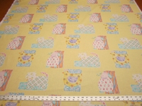 10 yd Nursery Cotton Print Drapery