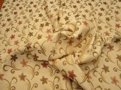3.3 yd Formal Floral Upholstery fabric