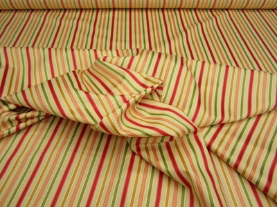 11 1/2 yards of pretty striped fabric for upholstery or drapery