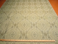 "r8634, 5.4 yards ""Mackenzie"" color ""straw""  paisley upholstery fabric"