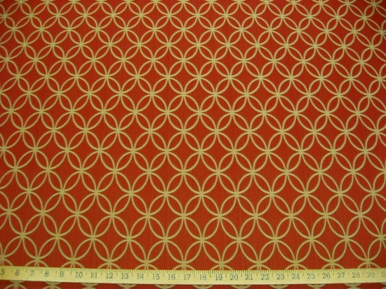 r8641, 2.5 yd Circles in Circles Upholstery Fabric