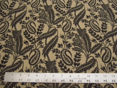 r8739b, 4.75 yd Paisley and Leaf Upholstery