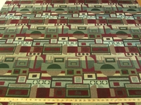 """r8786, 11 1/4 yards of """"Twist & Shout"""" geometric chenille upholstery fabric"""