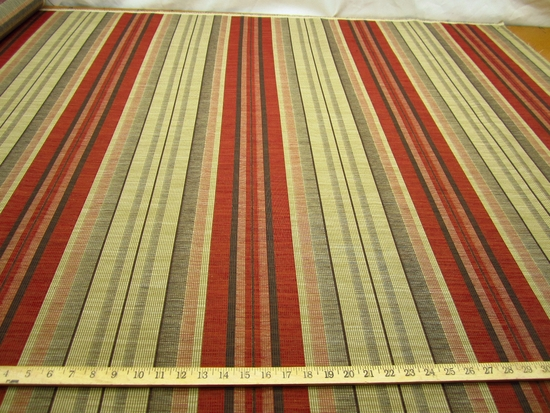 r9171,7 yds. Textured Ribbed Stripe Upholstery