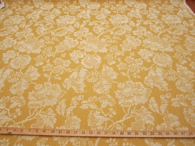 r9187, 3 1/2 yards Textured Floral Upholstery