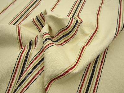 r9251, 9 7/8 yds Heavyweight Textured Stripe Upholstery