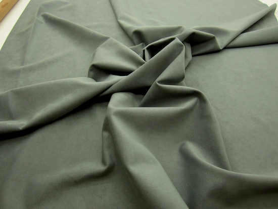 r9278, 17 yards of nice medium gray suede upholstery fabric