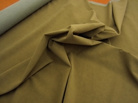 r9290, 7 1/2 yards of beaver green dimpled faux suede upholstery fabric