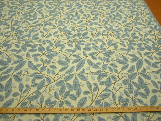 r9329, 1 1/4 yds Chenille Leaf Upholstery