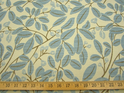 r9516, 1 5/8 yds Chenille Leaf Upholstery Fabric