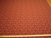 r9644, 5 1/4 yards of Oriel color poppy upholstery fabric