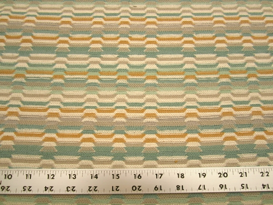 r9656b, 1 1/2 yards geometric chenille mix upholstery fabric