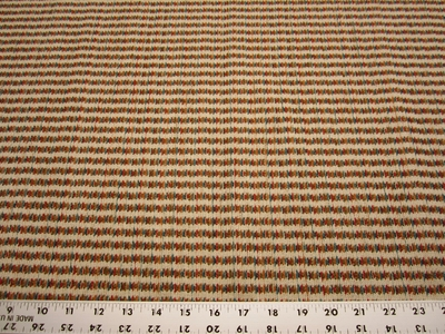 r9657b, 1 3/8 yards of ditsy stripe upholstery fabric