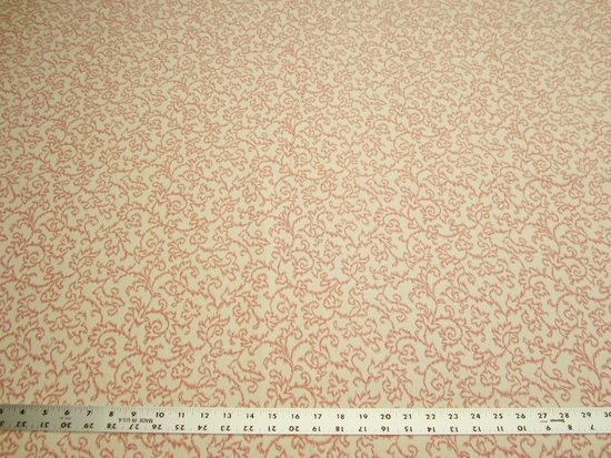 1 3/4 yards of elegant vine patterned upholstery fabric