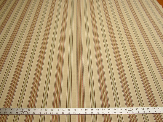 3 7/8 yards of textured stripe upholstery fabric