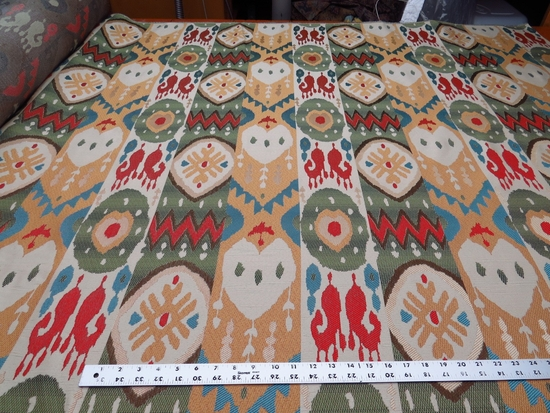 Southwest Ikat patterned uphostery fabric color rainbow ft150