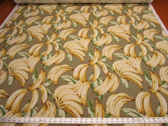 Tommy Bahama Top Banana color Bleached Sand ccotton print fabric