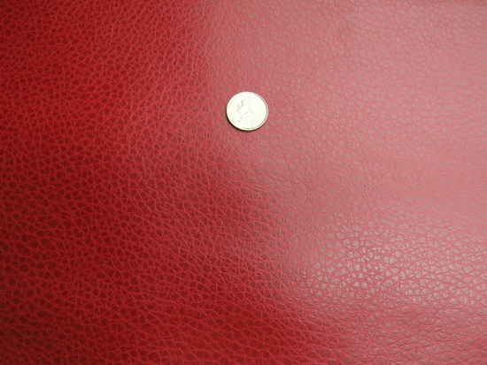 Tuscany red bonded leather upholstery fabric
