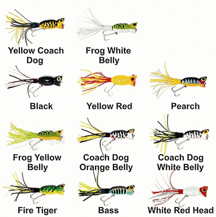 """Yellow Belly Frog 1 1//4/"""" 3//16 oz. Arbogast Hula Popper"""