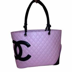 Authentic Chanel Pink Cambon Large Leather Tote Bag