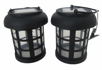 2 Pack Umbrella Hanging Solar Lantern with energy saving white LED