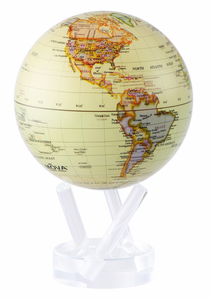 "4.5"" Antique High Gloss MOVA Globe with automatic rotation feature"