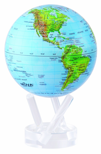 "4.5"" Blue Green MOVA Globe with automatic rotation feature"
