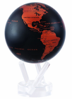 "4.5"" Copper Black MOVA Globe self rotating decor for homes and offices"